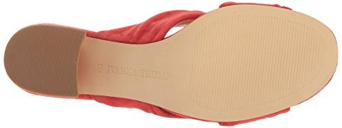 Trump Ivanka Talla Suede Zapato Mujeres red Destalonado Rojo FPTqPzpw