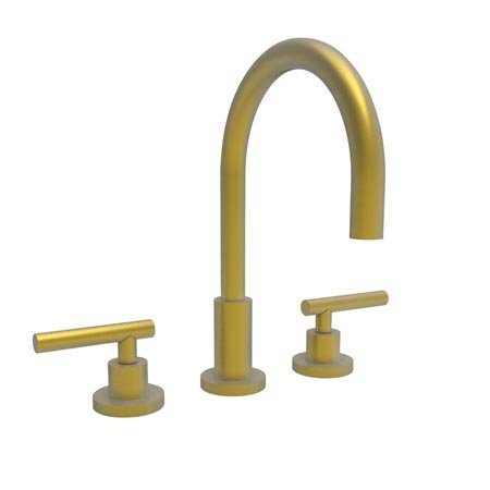 [Newport Brass 990L/10 East Linear Double Handle Widespread Lavatory Faucet with Metal Lever Handles (L, Satin Bronze] (Bronze 990 Double Handle)