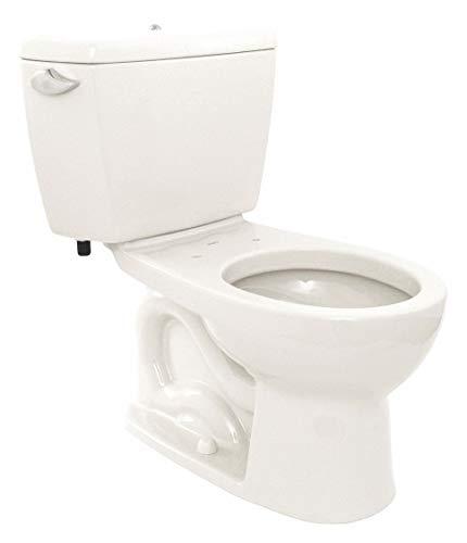 1.6 Cotton Gallon Flush - Two Piece Tank Toilet, 1.6 Gallons per Flush, Cotton