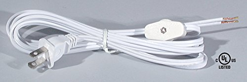 B&P Lamp Brown Cord Set W/Rotary On-Off Switch, SPT-2 Cord Size