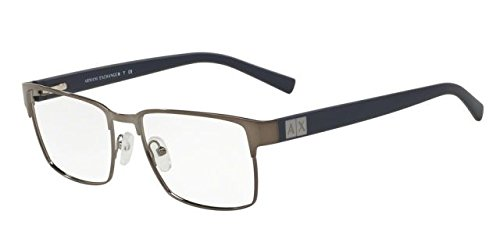 Armani Exchange AX1019 Eyeglass Frames 6087-54 - Gunmetal - Armani Frame Glasses