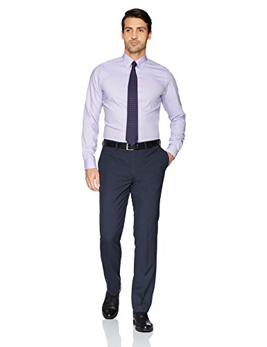 Buttoned Down Men's Tailored Fit Button-Collar Solid Non-Iron Dress Shirt (No Pocket), Purple, 16.5'' Neck 35'' Sleeve by Buttoned Down (Image #2)