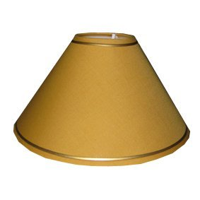 Pack 4 10u0026quot; Mustard Yellow Lamp Shade With Gold Trim