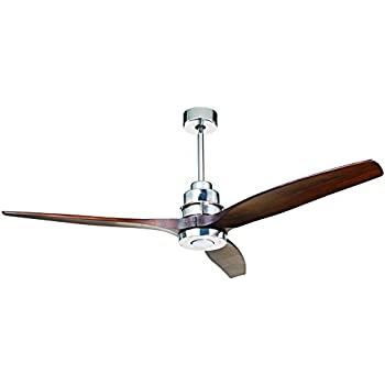 Craftmade son52ch sonnet 52 inch ceiling fan chrome with white craftmade k11068 sonnet ceiling fan with sonnet walnut blades and led light kit 60 mozeypictures Gallery