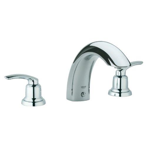 Grohe Talia Roman Tub Faucet - Grohe K25596-18085-000 Talia Roman Tub Filler Deck Mount Kit, Chrome