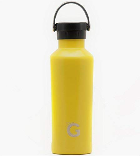 GO Active Flex- Stainless Steel Double Wall Bottle comes with 3 lids. Use Hot as a Travel Coffee Mug or cold as Insulated Sport Bottle. Hot Drinks 12 hours Cold drinks over 24hrs (Yellow, 24 oz)]()