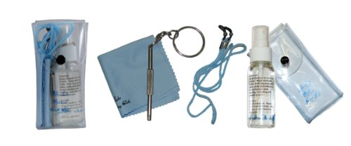 Eyeglasses Repair and Cleaning Kit with Keychain Screwdriver