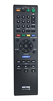 Vinabty New Replace Remote RMT-B104C fits for SONY BLU-RAY DISC PLAYER BDP-S185 BDP-S270 BDP-S300 BDP-S350 BDP-S360 BDP-S370 BDP-S380 BDP-S470 BDP-S480 BDP-S490 BDP-S550 Subs for BD RMT-B104P by Vinabty factory