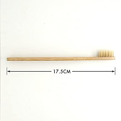 Dr.Perfect Bamboo Toothbrush Soft Natural Bristles (12)