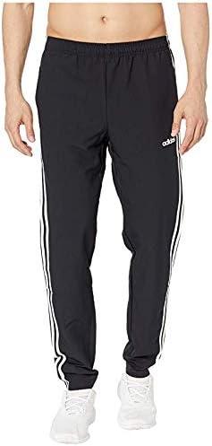 [adidas(アディダス)] メンズパンツ・ショーツ等 Essential 3-Stripe Woven Open Hem Pants Black/White (S) 31 [並行輸入品]