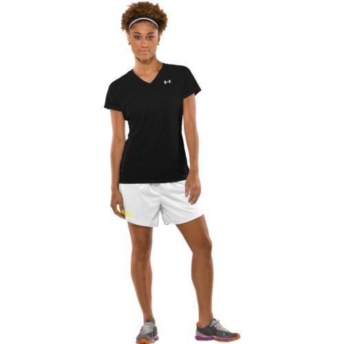 Under Armour Women's Tech S/S Tee, Black/Silver XS (US 0-2) by Under Armour (Image #4)