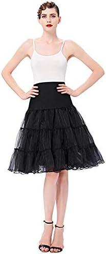 50s Sottogonna Petticoat Organza Retro Vintage Mini gonne Puffy Crinolina Rockabilly