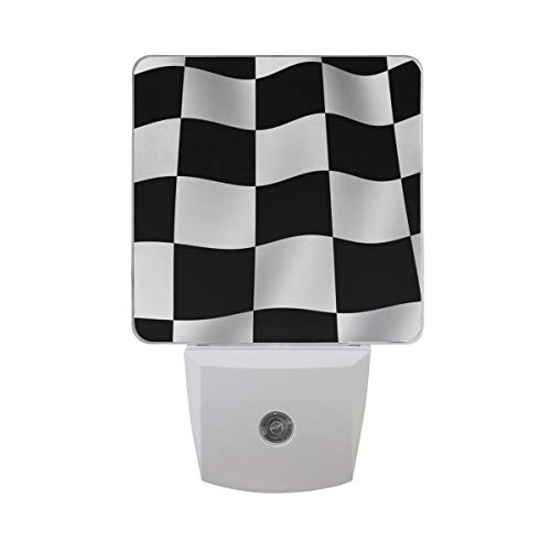 Night Light Checkered Flag Led Light Lamp for