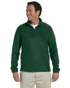 Harriton 8 oz. Fleece Quarter-Zip Fleece Pullover. Large Hunter