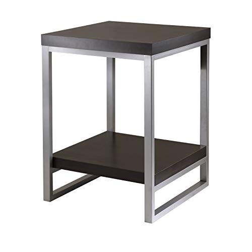 Metal Finish Table - Winsome Wood Jared End Table, Espresso Finish