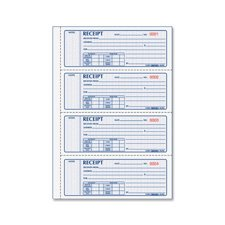 Money Receipts,Crbnls,2-Part,4 p/ Page,2-3/4''x7'',400/BK Qty:5 by Rediform
