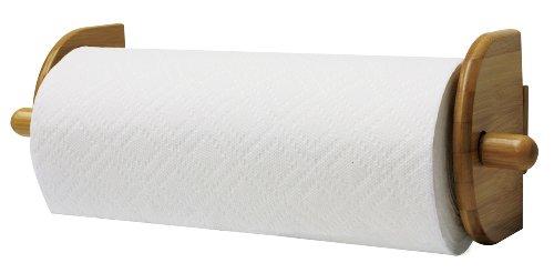 - Home Basics Bamboo Wall Mounted Paper Towel Holder