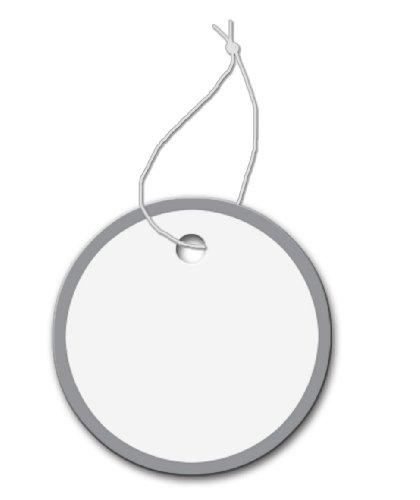 Metal Rim Key Tags - With String - Metal Rim Tag