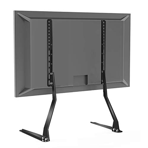 Price comparison product image PERLESMITH Universal Table Top TV Stand for 37 - 70 Inch Flat Screen,  LCD TVs Premium Height Adjustable Leg Stand Holds up to 110lbs, VESA up to 600x400mm