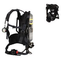 MSA 10095806 AirHawk II 2216 psig Industrial Low Pressure Supplied Air Respirator System With Medium Hycar Rubber Advantage 4000 Facepiece, Net Head Harness, L30 Carbon-Wrapped 30-Minute Cylinder, Nylon Harness With Chest Strap And Hard Carry Case (1/EA)