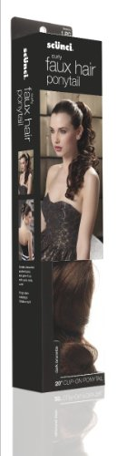 Scunci Faux Hair Curly Jaw Clip Extension In Dark Brunette, 20-Inch