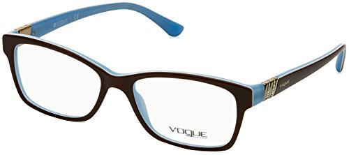 Vogue VO2765B Eyeglass Frames 2011-5316 - Top Light Brown/Opal Frame, Demo - Eyeglasses Eyewear Vogue