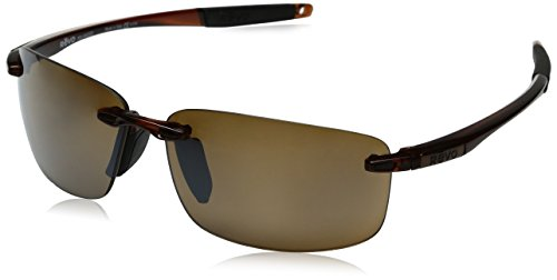 Revo Descend N RE 4059GF Global Fit Polarized Rectangular Sunglasses, Crystal Brown, 64 - Revo Sunglasses Descend N