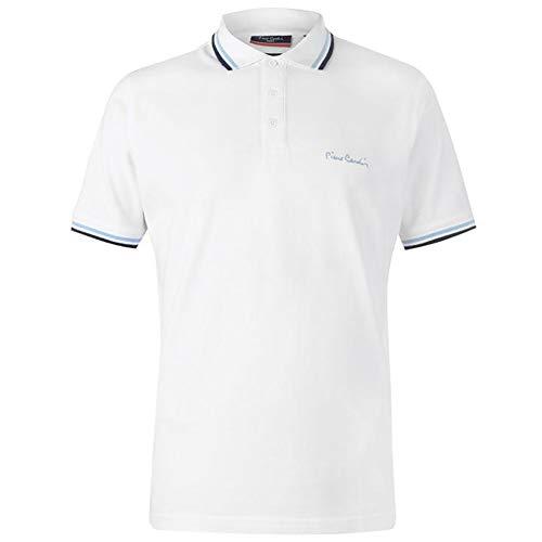 Pierre Bordure À Contrastante Coupe Homme Cotton White Classique Polo Cardin rxnqgHw0r