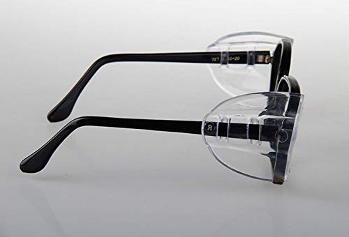 Hub's Gadget 12 Pairs Safety Eye Glasses Side Shields, Slip On Clear Side Shield for Safety Glasses- Fits Small to Medium Eyeglasses by Hub's Gadget (Image #5)