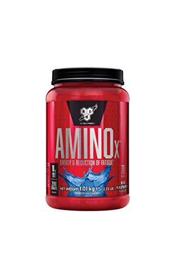 BSN Amino X BCAA Pulver, Zuckerfrei Aminosäuren Komplex Hochdosiert mit Vitamin D, Vitamin B6, Arginin, Taurin und Alanin, Blue Raspberry, 70 Portionen, 1kg