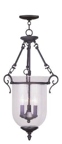 Legacy Ceiling Flush - Livex Lighting 5025-07 Legacy 3-Light Hanging Lantern, Bronze