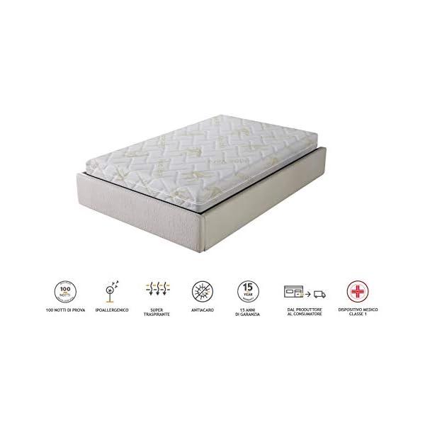 AILIME SRL Materasso sfoderabile Una Piazza e Mezza in Memory Foam 120x190x25 cm Dispositivo Medico Premium 2 spesavip