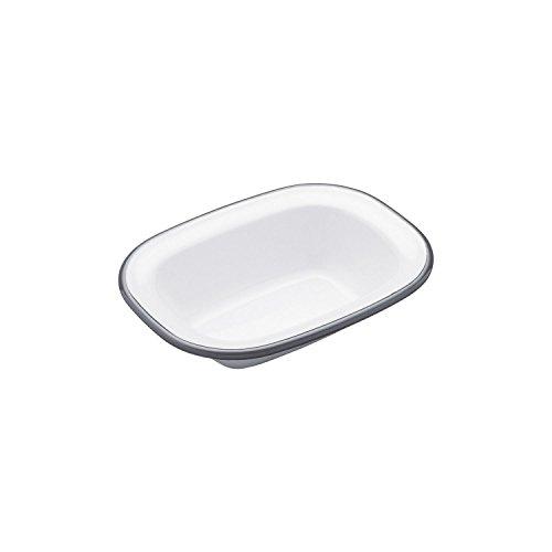 Pie Dish - Enamel - Oblong - 16cm (Pack of 2)