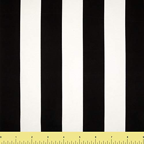 Cotton Spandex Jersey Fabric 12 oz - Solid Colors (2 Yards, Black&White Stripes)