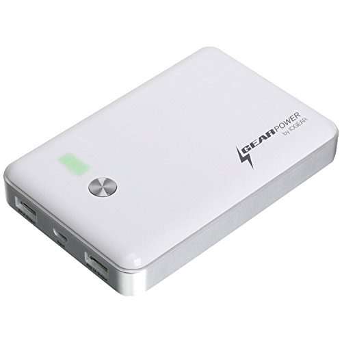 IOGEAR GearPower 11,000mAh Ultra Capacity Mobile Power Station for Smartphones/Tablets/Mobile Devices, White, GMP10K