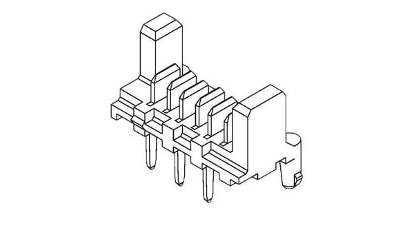 500 pieces Headers /& Wire Housings PICOFLEX PF-50 4 CKT HEADER