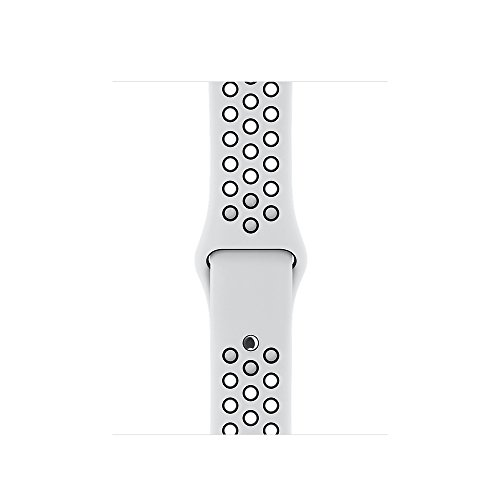 Yearscase 42MM Soft Silicone Sport Replacement Band with Ventilation Holes for Apple Watch Series 3, Series 2, Series 1, Sport , Edition, M/L Size - White / Black