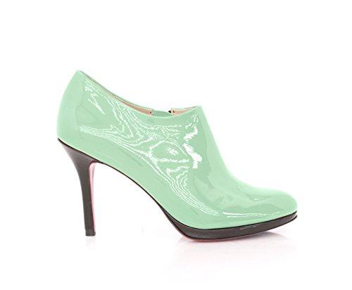 Botas Verde Stiletto Tornozelo Botas Centímetros Aqua Do Nove Couro 7Ewqd7