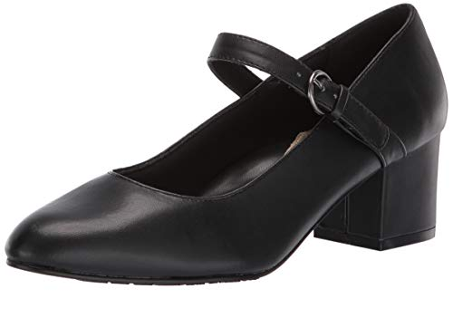Soft Style by Hush Puppies Women's Dustie Pump, Black Smooth,08.5 M US (Style Soft Shoes)