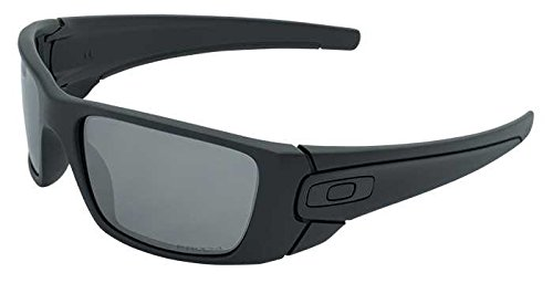 Oakley Fuel Cell Polarized Iridium Rectangular Sunglasses, Satin Black w/Prizm Black Polarized, 60 ()