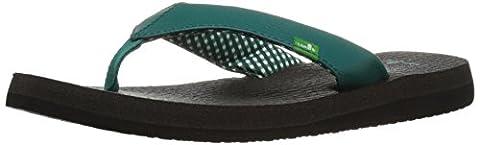 Sanuk Women's Yoga Mat Flip Flop, Evergreen, 6 M US (Green Flip Flops)