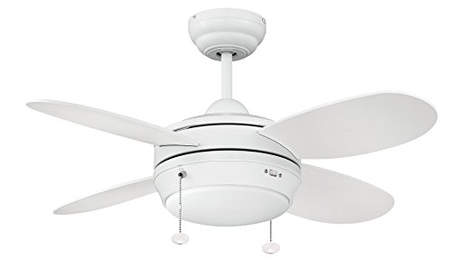 Litex E-MLV36MWW4LK1 Maksim Collection 36-Inch Ceiling Fan w