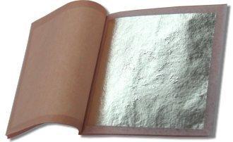 Genuine Silver Leaf Booklet (25 Sheets/Transfer Type)