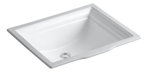 (KOHLER K-2339-0 Memoirs Under-Mount Bathroom Sink, White)