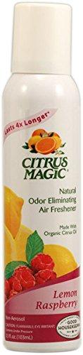 Citrus Magic Lemon Raspberry Natural Odor Eliminating Air Freshener, 3.5 Ounce - 6 per case. by Citrus Magic