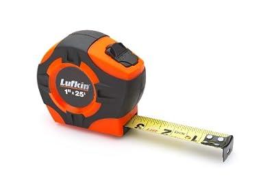 Lufkin PHV1425D Power Return Engineer's Tape, 1-Inch by 25-Feet, Hi-Viz Orange by Cooper Tools