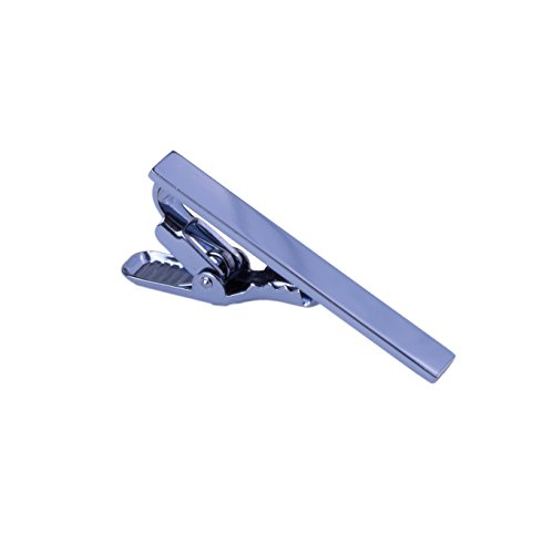 "Men's Tie Clip and Tie Bar with Extra Strong Clasp, 1.5"" Tie Bar in - Clip Blue Tie"