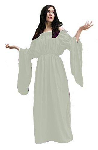 Medieval Renaissance Costume Celtic Chemise Empire Waist (Cream)