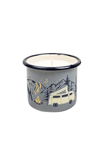 Road 12 Oz Mug - United By Blue - Road Trip Enamel Candle Mug 12oz - 9oz Soy Candle