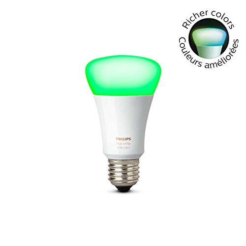 Philips 464503 Hue White and Color A19 LED Bulb, 3rd Generation with Richer Colors for IOS and Android